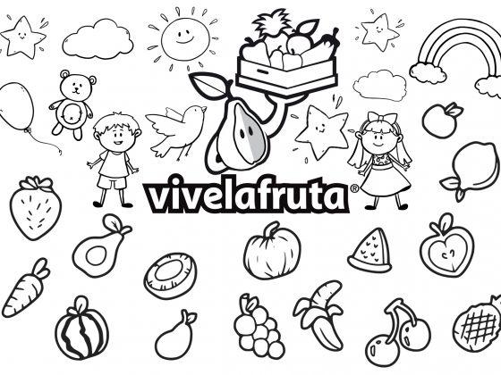 Pinta comparte y gana frutas verduras pintar niños concurso
