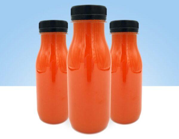zumo natural fresa naranja