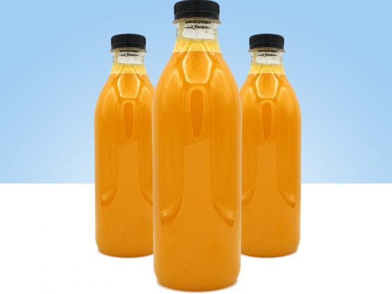 zumo de naranja y mango producto fresco