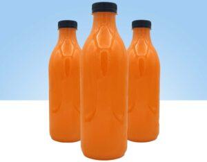 zumos naturales de naranja y zanahoria hechos a diario