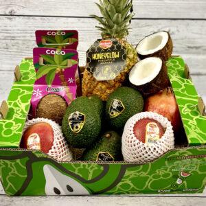 cesta de fruta tropical