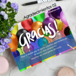 Tarjeta de agradecimientos para fruta para regalo vivelafruta
