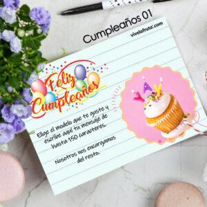 Tarjeta de cumpleaños para fruta para regalo vivelafruta