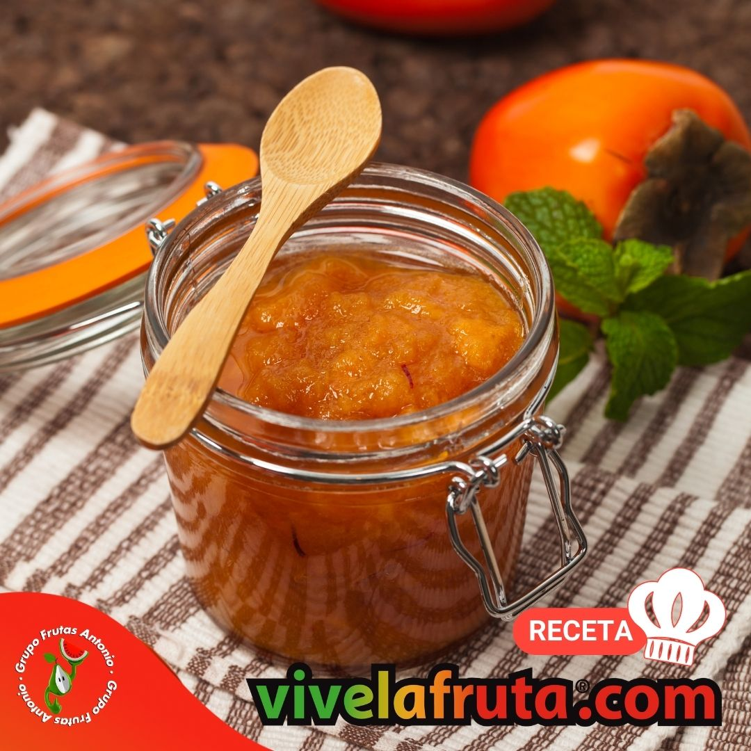 como hacer mermelada de caqui kaki persimon