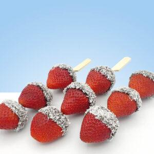 fruta cuarta gama con chocolate